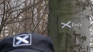 Mehrere E1 Markierungen bei Pause auf dem Bungsberg