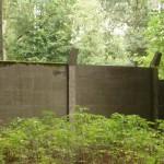 Überreste der innerdeutschen Grenze im Lauerholz