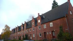 Rotklinker Siedlung Lübeck Eichholz Teich