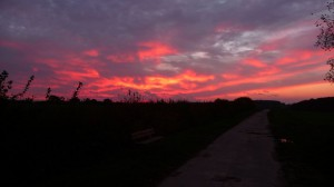 Sonnenuntergang über klein Disnack