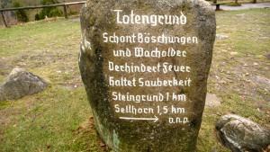 Gipfelstein am Totengrund?