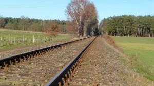 Heideexpress Bahnlinie bei Oeningen