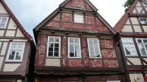 Fachwerk mit Fassadenrenovierungsstau