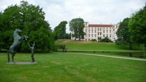 Erhabener Blick auf Schloss Celle