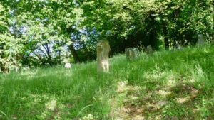 Hübscher Friedhof vor Maxsain